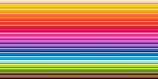 Spectrum rainbow colored pencils row Drawing tool. Multicolored spectrum background Set colored pencils in row Drawing tools Close up Top view Copy space royalty free stock photography
