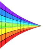 Spectrum som göras av färgrika kuber stock illustrationer