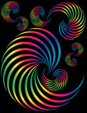 Spectrum Spirals Stock Photo