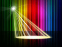 Spectrum Spotlight Represents Colorful Background And Entertainment Royalty Free Stock Image