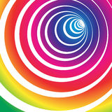 Spectrum tunnel. Vortex rainbow background vector illustration