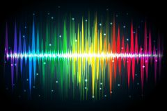Spectrum of Volume. Illustration of spectrum of volume waves on abstract background Stock Photos