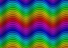 Spectrum waves Stock Images