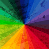 Spectrum Wheel Made Of Bricks. Rainbow Color Spectrum Grunge Background. Square Composition With Geometric Color Flow Effect. Stock Image