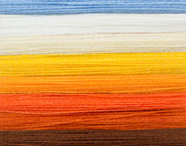 Spectrum of woolen colorful threads Stock Images