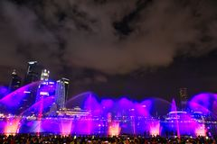 Spectrums in Marina Bay Sand, Singapore stock afbeelding
