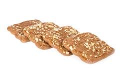 Speculaas,典型的荷兰甜点被隔绝在白色 免版税库存图片