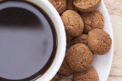 Speculaas和咖啡 库存图片