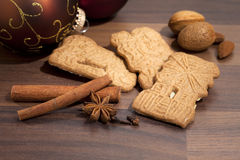 Speculaas biscuits and ingredients Stock Images