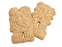 Speculaas Cookies Isolated Stock Photo