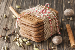 Speculaas (dutch cookies) Stock Image