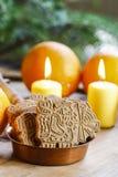 Speculaas jest typ spiced shortcrust ciastko, tradycjonalnie zdjęcie stock