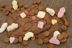 Speculaas and pepernoten candy. Scatter for sinterklaas 5 december Stock Photo
