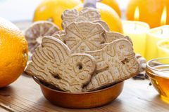 Speculaas is a type of spiced shortcrust biscuit Royalty Free Stock Images