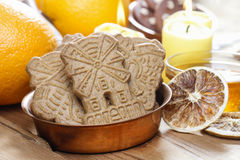 Speculaas is a type of spiced shortcrust biscuit Stock Photo