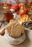 Speculaas is a type of spiced shortcrust biscuit Stock Photos