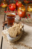 Speculaas is a type of spiced shortcrust biscuit Stock Images