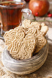 Speculaas is a type of spiced shortcrust biscuit Royalty Free Stock Photos