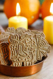 Speculaas is a type of spiced shortcrust biscuit Royalty Free Stock Photography