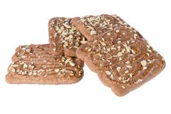Speculaas, typical Dutch sweets isolated over white Stock Photos