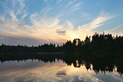 Specular reflection in the lake Royalty Free Stock Images