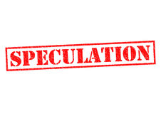 SPECULATION. Red Rubber Stamp over a white background Royalty Free Stock Images