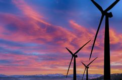 Speculation in renewable energies. Eolic park royalty free stock photography