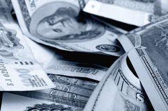 speculazione di urrency del  del Rublo-dollaro Ñ Fotografia Stock