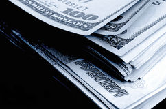 Speculazione di valuta il dollaro della rublo Fotografie Stock