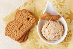 Speculoos ice cream from above Stock Image