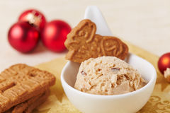 Speculoos ice cream at christmas Stock Images