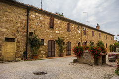 Spedaletto medieval village - Tuscany Royalty Free Stock Photo