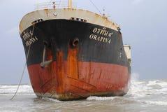 Spedica con carico sul canale di Kiel, Germania Fotografia Stock Libera da Diritti