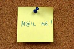 Spedicalo messaggio Fotografie Stock