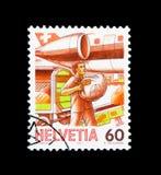 Spedisca, serie della consegna della posta, circa 1987 Fotografie Stock