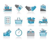 Spedizione ed icone logistiche Fotografia Stock