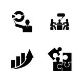 Speech analytics. Simple Related Vector Icons Stock Photos