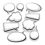 Speech And Thought Bubbles Royalty Free Stock Photos
