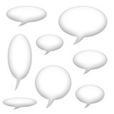 Speech Announcement Bubbles Royalty Free Stock Photos