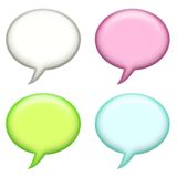 Speech Announcement Bubbles Royalty Free Stock Images