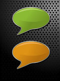 Speech balloon icons Royalty Free Stock Images