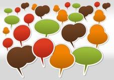 Speech balloon icons. Large set of Speech balloon icons Stock Image