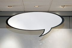 Speech Balloon. Oval Empty Space Comic Cloud royalty free stock photography