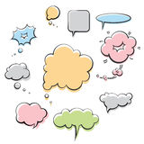Speech balloons Stock Photos