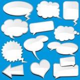 Speech Balloons. Speech bubble isolated on blue background Stock Image