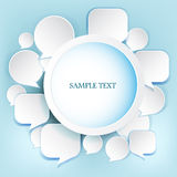 Speech balloons. Abstract illustration layout Royalty Free Stock Photography