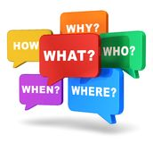 Speech balloons with questions Royalty Free Stock Photos