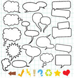 Speech Balloons (Speech bubble) Royalty Free Stock Images