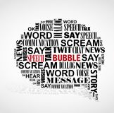 Speech booble word cloud. Stock Image