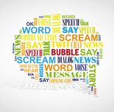 Speech booble  word cloud. Royalty Free Stock Photography